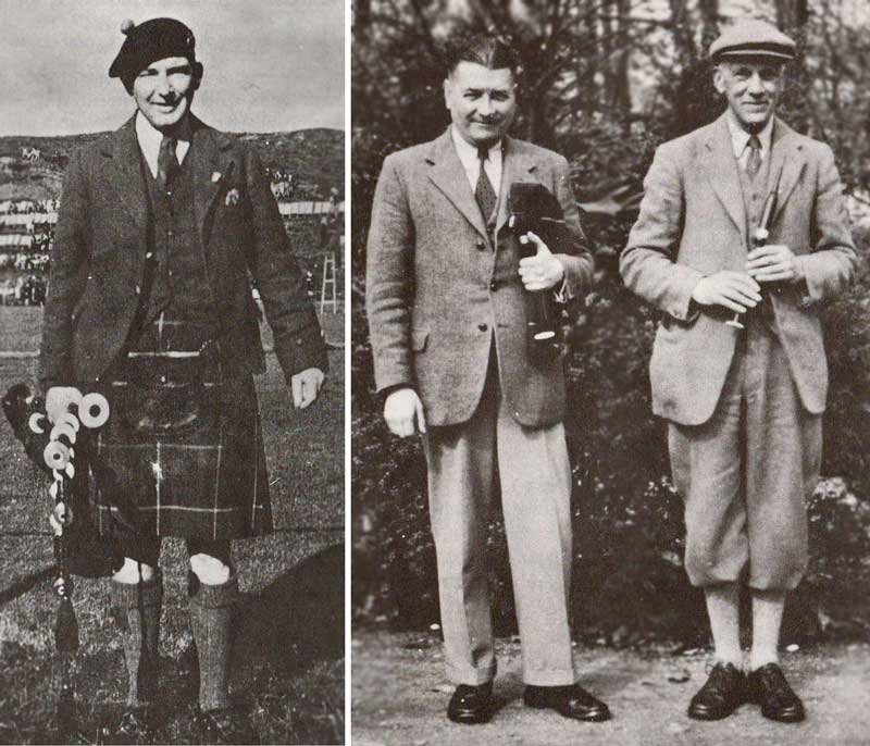 Lewis Beaton, Dr W. M. MacPhail and Archibald Campbell.