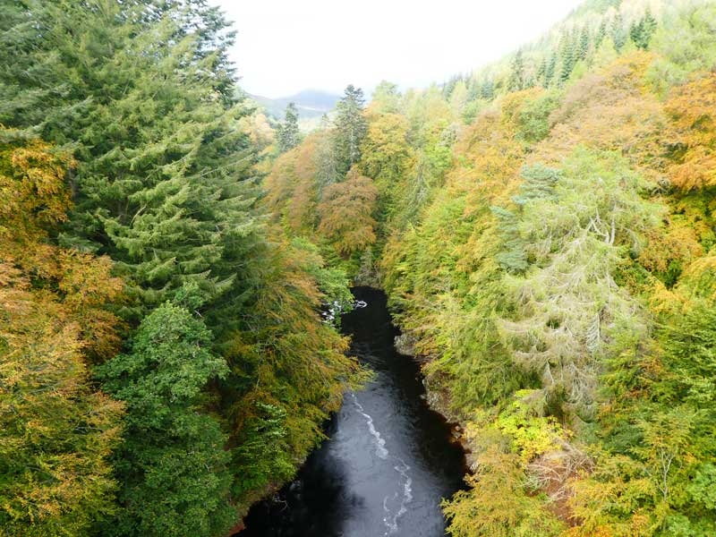 The River Garry flows through the Pass of Killieecrankie, here in its autumn colours.