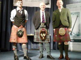 Angus MacColl Jnr., Tom Johnstone (SPA President) and John Patrick.
