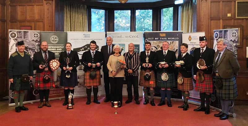 The prizewinners from the 2019 Captain John A. MacLellan MBE Memorial contest.
