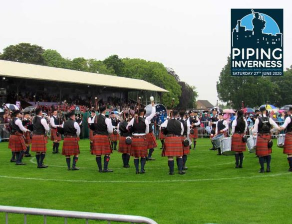 Glasgow Police competing at the 2019 European Pipe Band Championships held at Bught Park.