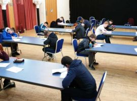 Members of the National Youth Pipe Band of Scotland sitting their PDQB exams last weekend.