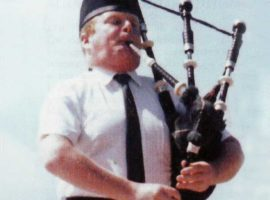 Alasdair Gillies: he was never happier than when playing his pipes