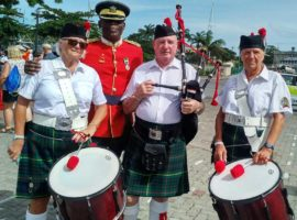 Pipes and drums in Barbados