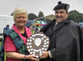 Perth 2014. Provost Liz Grant with Billy Geedes.
