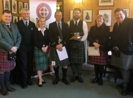 Prizewinners and judges at today's Archie Kenneth Quaich.