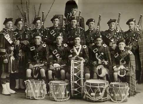 Mildura Pipe Band, 1935.