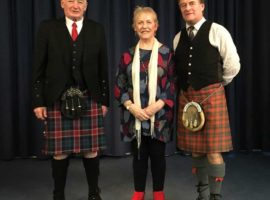 Angus MacColl with Alastair MacInnes and Beathag Mhoireasdan.