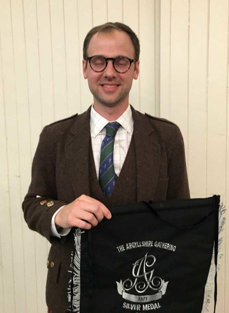 Ben McClamrock won the Silver Medal at the 2019 Argyllshire Gathering.