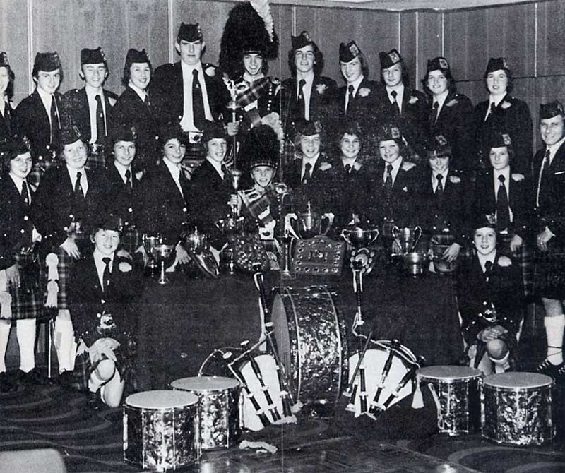 Craigmount High School Pipe Band pictured in 1978.