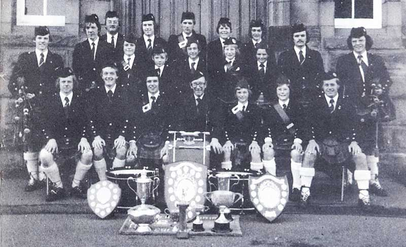 The 1st Denny & Dunipace BB Pipe Band pictured in 1978.