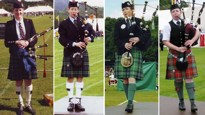 Oban, L-R: Marion MacVean in 1993, Jenny Hazzard in 1999, Margaret Houlihan in 2003 and Andrea Boyd in 2007.