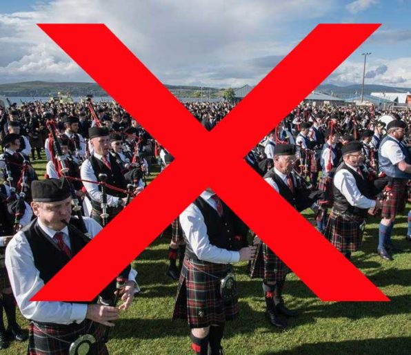 Massed bands at Gourock … but not this year.