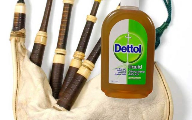 Disinfecting bagpipes