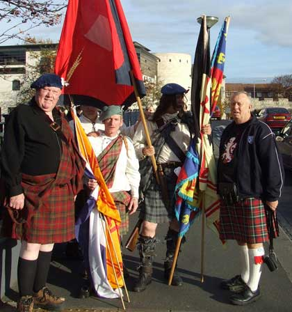 November 3, 2007. The historical group Crann Tara holds a commemorate event in York to the memory of 22 Jacobites executed for their part in the rising of 1745.