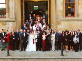 Wedding award for the National Piping Centre
