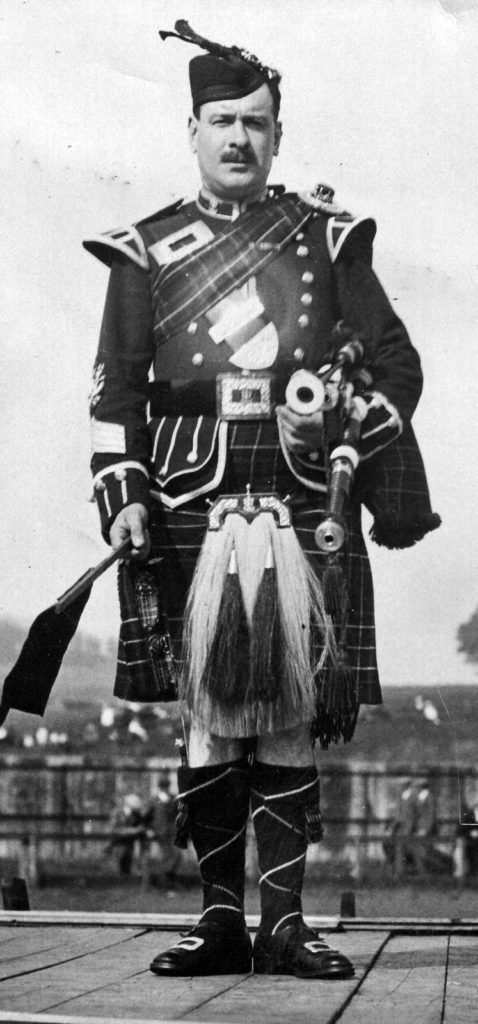Pipe Major Willie Gray.