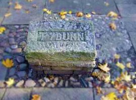 This plaque in York's Tadcaster Road marks the spot where the town's gallows stood.