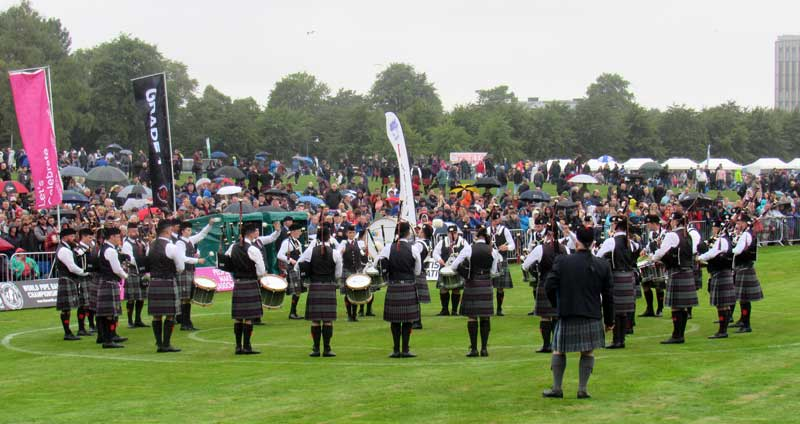 ScottishPower Pipe Band at the 2018 World Pipe Band Championships.
