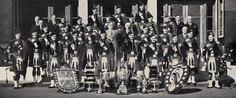 Shotts in 1948 after winning the World Championships.