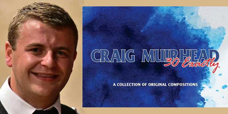 Craig Muirhead and the cover of his new book