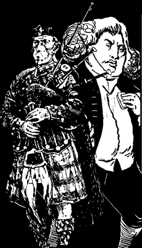 Artwork from 'The Little Book of Piping Quotations' (2004) by Stuart Letford and reproduced with permission.