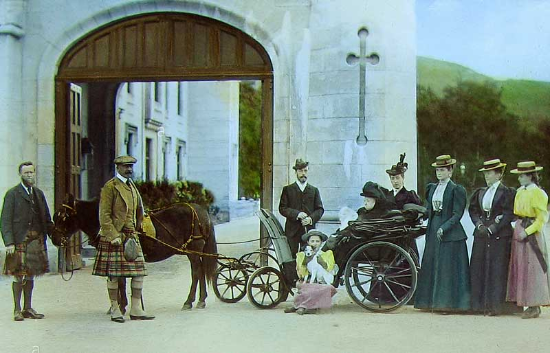 The Royal Party at Balmoral possibly some time in the 1890s.