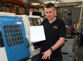 Stuart McCallum inside the workshop. (Photo: Ayrshire Chamber of Commerce).