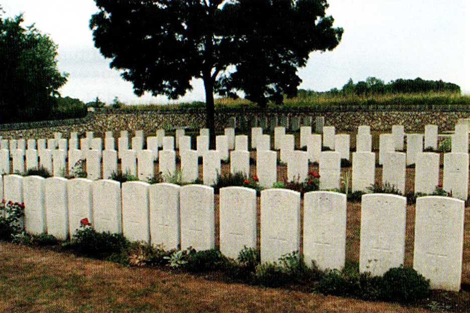 The carefully tended cemetery at Buzancy, France where Duncan MacKenzie is buried.