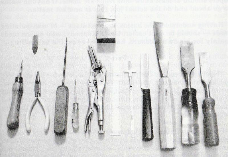 Reedmaking tools.