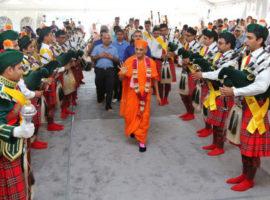 The Shree Muktajeevan Swamibapa Pipe Band.