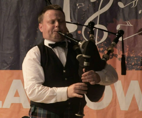 Callum Beaumont competing at the online 2020 Silver Chanter.