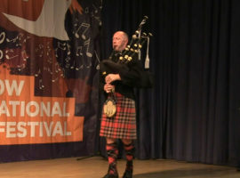 Iain Speirs competing in the 2020 online Silver Chanter earlier tonight.