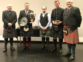 Prizewinners and judges at Saturday's competitions.