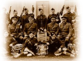 Pipers of the 25th Nova Scotia Overseas Battalion in World War 1