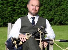 Gordon's smallpipes / Piper professor performs at COVID experience gig  / St. Valery anniversary marked