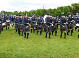 Pipe band optimism / Beaumont recital and NI festival / Kimberley Regiment tune book reprinted / Celebrating St. Columba