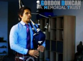 Lincoln Hilton wins Gordon Duncan Memorial Piping Competition; Trust reaches £100k+ in awards