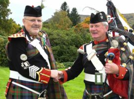 Ian Duncan's 50 years' Atholl Highlander service recognised